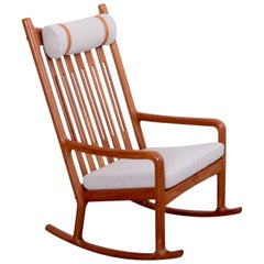 Jacob Kjær Rocking Chair in Teak, Denmark, 1960s