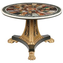 Regency Specimen Marble and Giltwood Centre Table