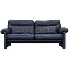 De Sede DS 1970 Designer Sofa Leather Black Two-Seat Couch Modern