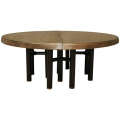 Pimped Vintage Brass and Bronze Large Dining Table MIM, Italy Ico Parisi
