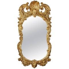 Irish 18th Century Giltwood Mirror