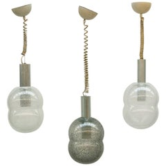Tobia Scarpa, Flos, Three Bilobo Hanging Lamps