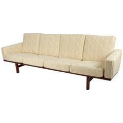 Hans Wegner GE236/4 Sofa in Teak for GETAMA, Denmark