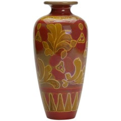 Burmantofts Faience Lustre Floral Vase Joseph Walmsley