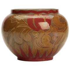 Burmantofts Faience Lustre Tulip Vase by Joseph Walmsley