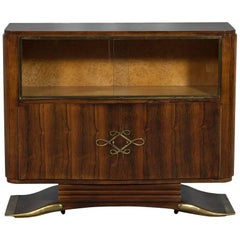 Antique French Art Deco Rosewood Bar Cabinet