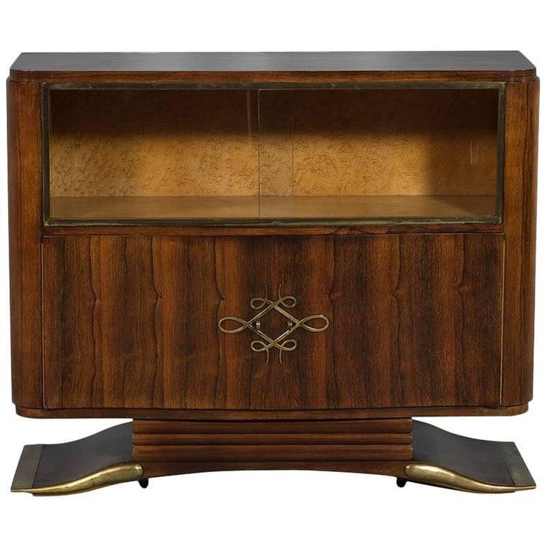antique french art deco rosewood bar cabinet for sale at 1stdibs. Black Bedroom Furniture Sets. Home Design Ideas