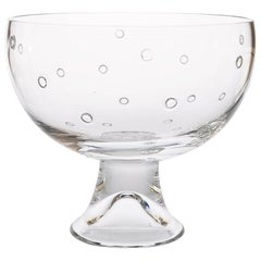 Large Steuben Footed Bowl with Floating Bubble