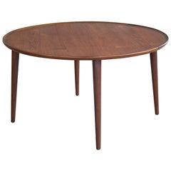 Peter Hvidt Round Teak Coffee Table