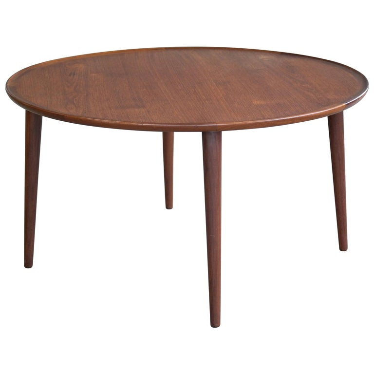 Peter Hvidt Round Teak Coffee Table For Sale At 1stdibs