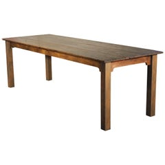 Farm Dining Table Reclaimed Tobacco Sorting Harvest Wood from Connecticut
