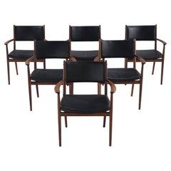 Kai Lynfeldt-Larsen Set of Six Rosewood Dining Chairs