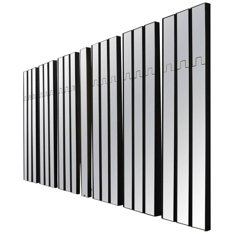 Luciano Bertoncini 'Gronda' Mirror Coat Rack 18 Wall Elements, 1970