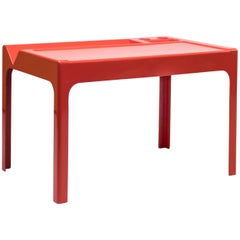 Red Fiberglass Desk by Marc Berthier
