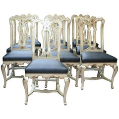 Ten Late 18th Century Polychromed Chairs
