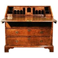 Exceptional George II Walnut Bureau circa 1740