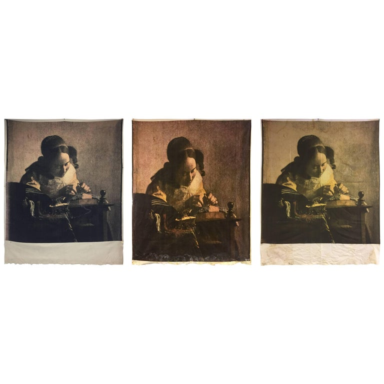 Three Unique Philippe Starck Silk Screens from Paramount Hotel For Sale
