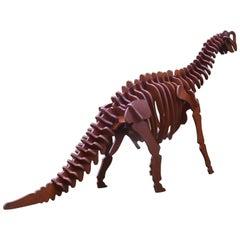 Massive Plywood Model Dinosaur, Italy, circa 1970