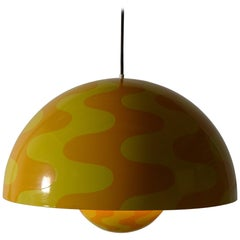 Verner Panton Rare Large Version of the Flowerpot Pendant Light