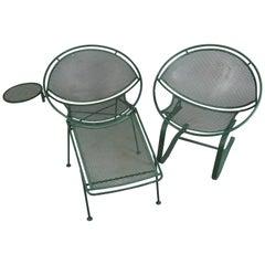 Pair of 1950s Radar Lounge Chairs by Salterini
