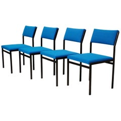 Set of Four Cees Braakman Japanese Serie Dining Chairs for Pastoe