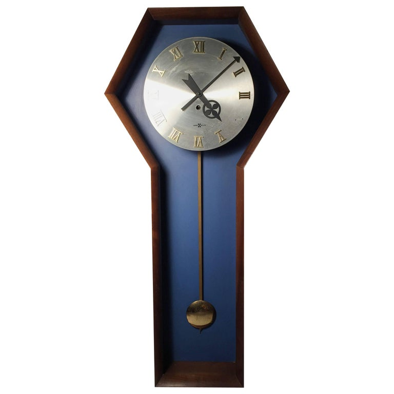 Howard Miller Arthur Umanoff Wall Clock in Fashionable Sapphire