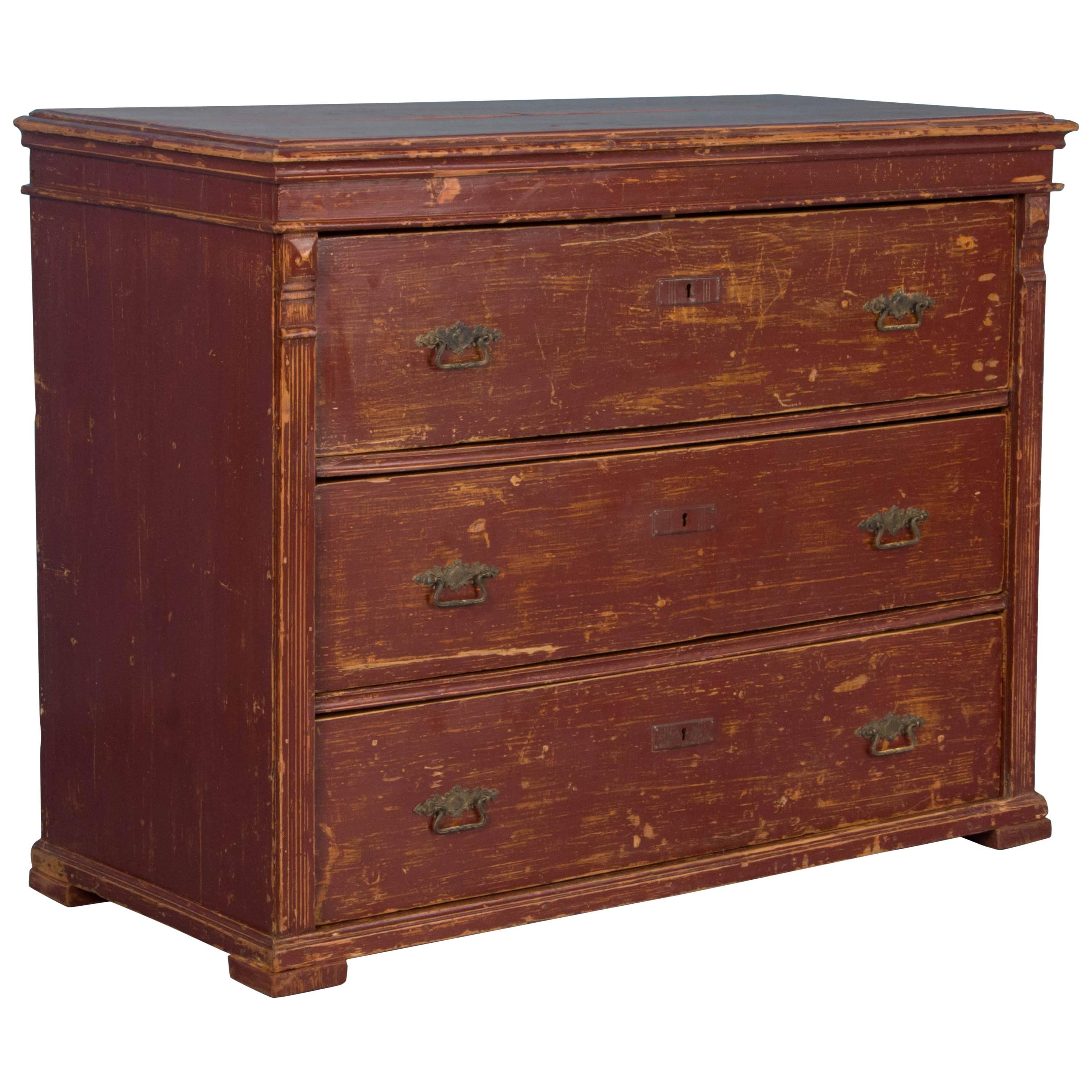 Hungarian Folk Art Pine Chest Of Drawers In Original Paint, Circa 1860 For  Sale At 1stdibs