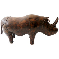 Dimitri Omersa Leather Rhinoceros Ottoman Footstool Abercrombie & Fitch