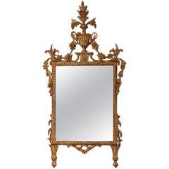 18th Century Italian Piedmont Gilt Neoclassical Mirror