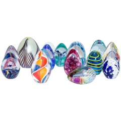 Assorted Murano Glass Eggs