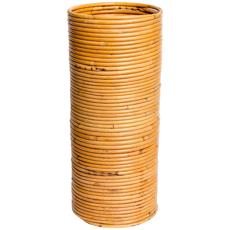 Rattan Cylindrical Umbrella Holder