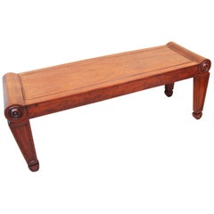 Antique Regency Mahogany Hall Bench