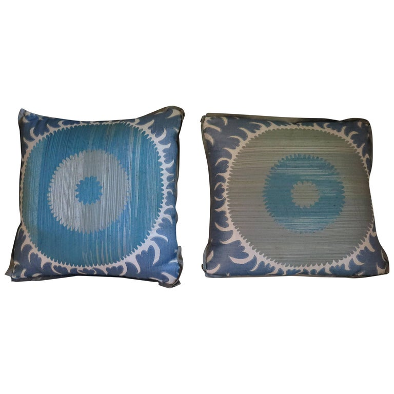 Pair of Custom Donghia Suzani Pillows