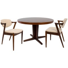 Kai Kristiansen Set of Six Dining Chairs and Table, Model 42, circa 1960