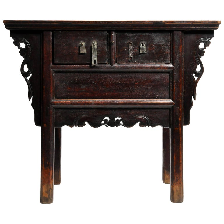 Butterfly Chest with Carved Wings with Original Patina