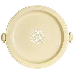 Creamware Hot Water Plate, circa 1785-1800