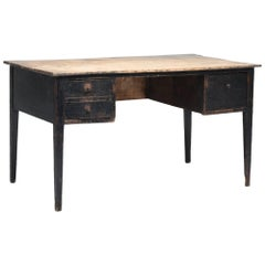 French Painted Pine Writing Desk