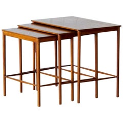 Set of Scandinavian Mid-Century Teak Nesting Tables, Grete Jalk, 1970