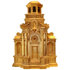 18th Century European Giltwood Architectural Church Sacristy