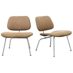 Rare Charles Eames LCM Pair of with Original Girard Fabric