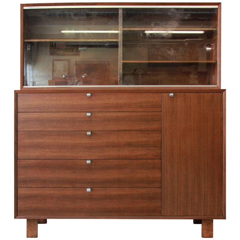 george nelson for herman miller sideboard with glass front