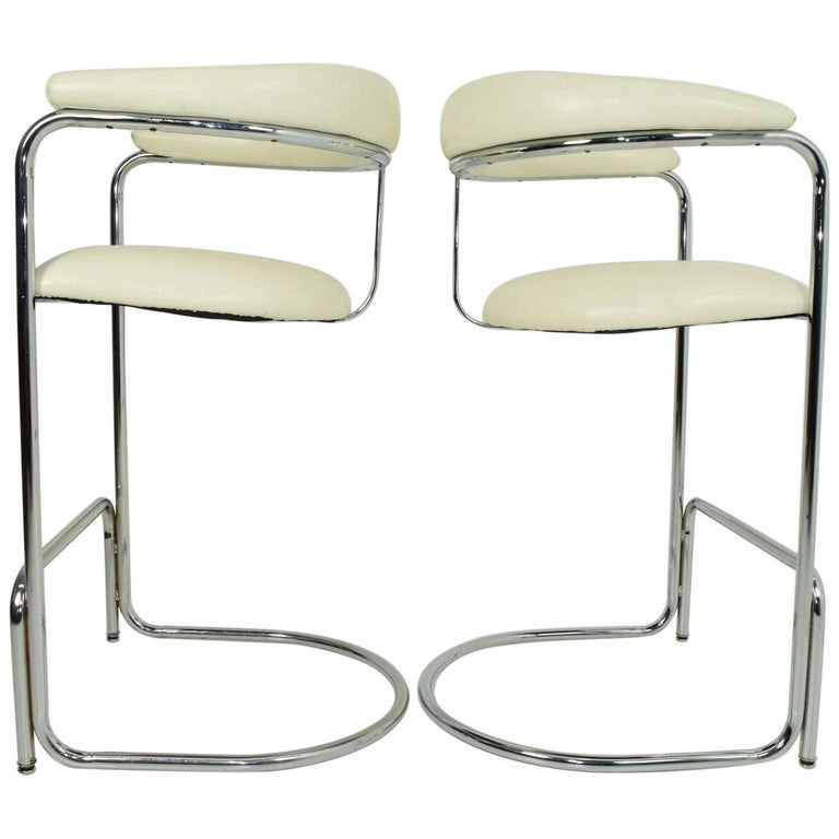 Bar Stools by Anton Lorenz for Thonet For Sale