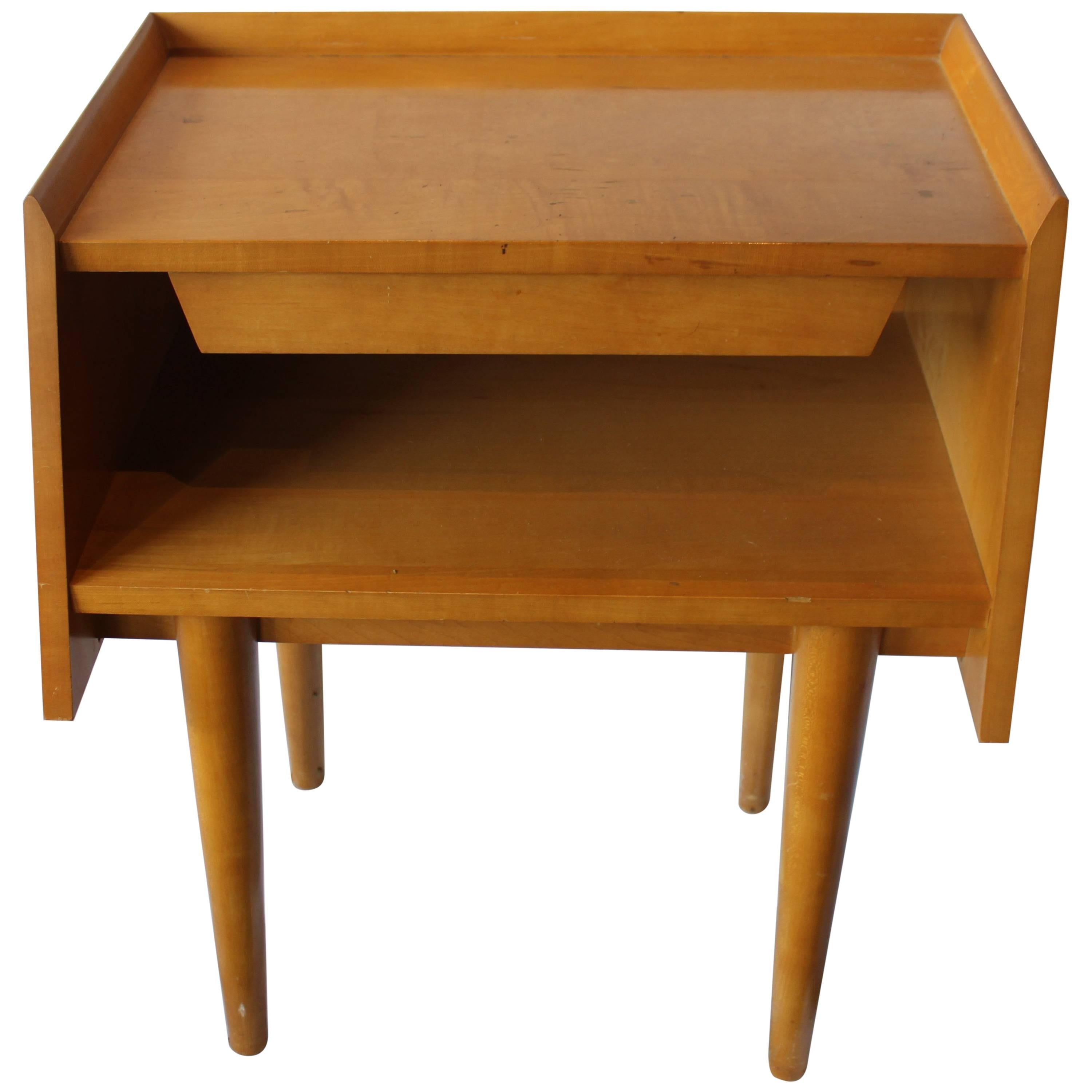 crawford midcentury modern nightstand with drawer