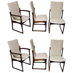 Six Danish Rosewood Dining Chairs by Art Furn