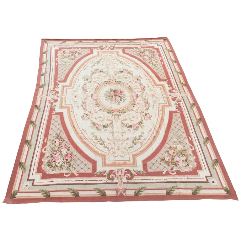 Room size wool needlepoint aubusson rug for sale at 1stdibs for Room size rugs