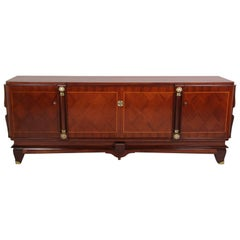 French Rosewood and Kingwood Art Deco Sideboard from Paris, circa 1940