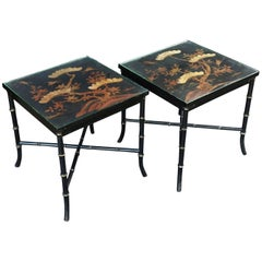 English Low Tables of Japan-Lacquered Bamboo 'Individually Priced'