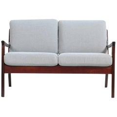 Ole Wanscher, 1960s, Danish Two-Seat Sofa P. Jeppesen Mahogany Senator Series