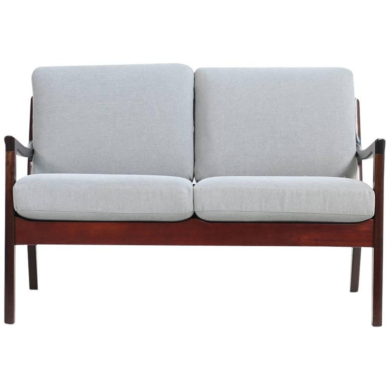 Ole Wanscher, 1960s, Danish Two-Seat Sofa P. Jeppesen Mahogany Senator Series For Sale
