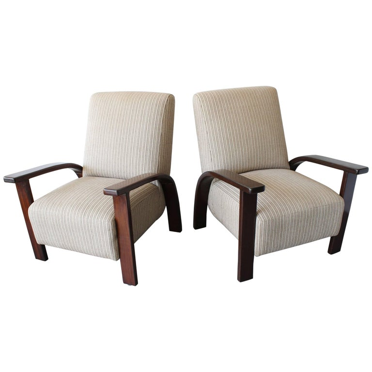 Pair of Bentwood Mid-Century Armchairs